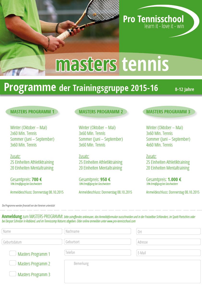 Masters- Programm