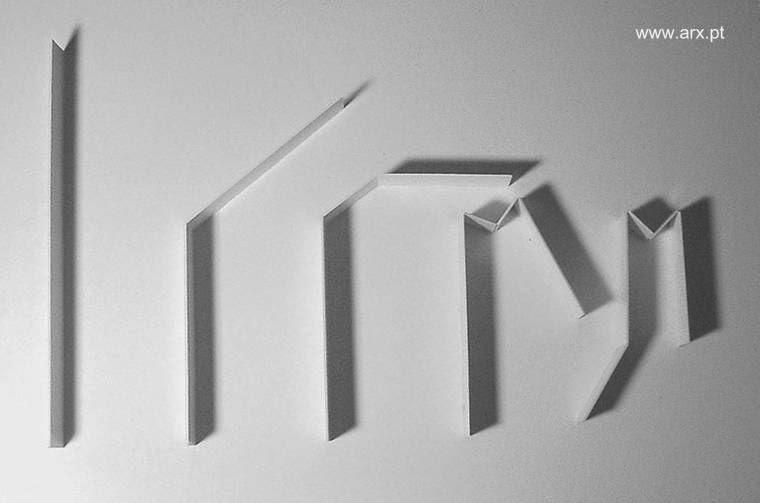 Pliegues de papel de la estructura del proyecto arquitectónico
