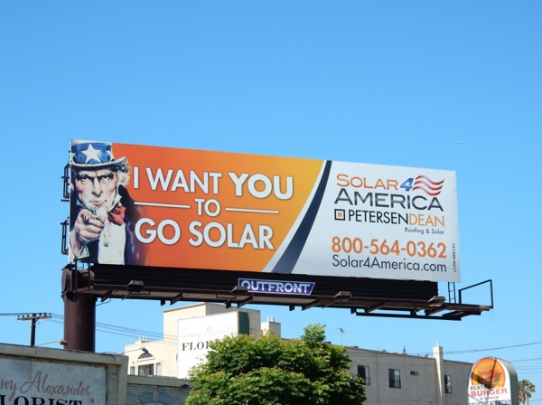 I want you to go Solar Uncle Sam billboard