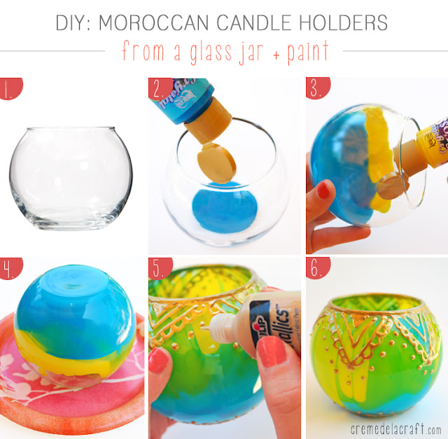 Diy project idea moroccan glass candle holders