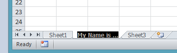 Change the name of the worksheet in Excel