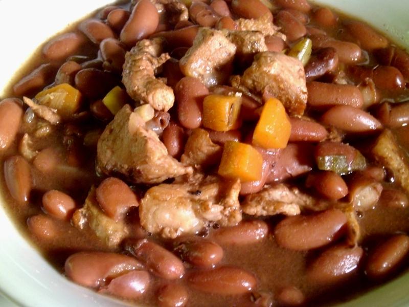 Mi cocina alubias o caraotas rojas con cerdo - Como cocinar alubias rojas ...