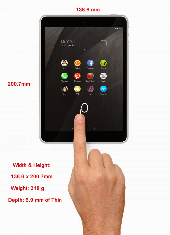 Nokia N1 Android Tablet - Specification