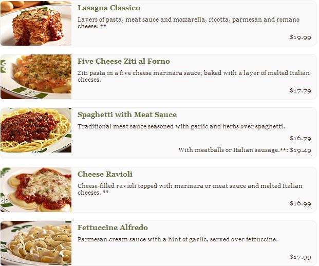 Olive garden restaurante comida italiana dicas de ny for Restaurantes de comida italiana