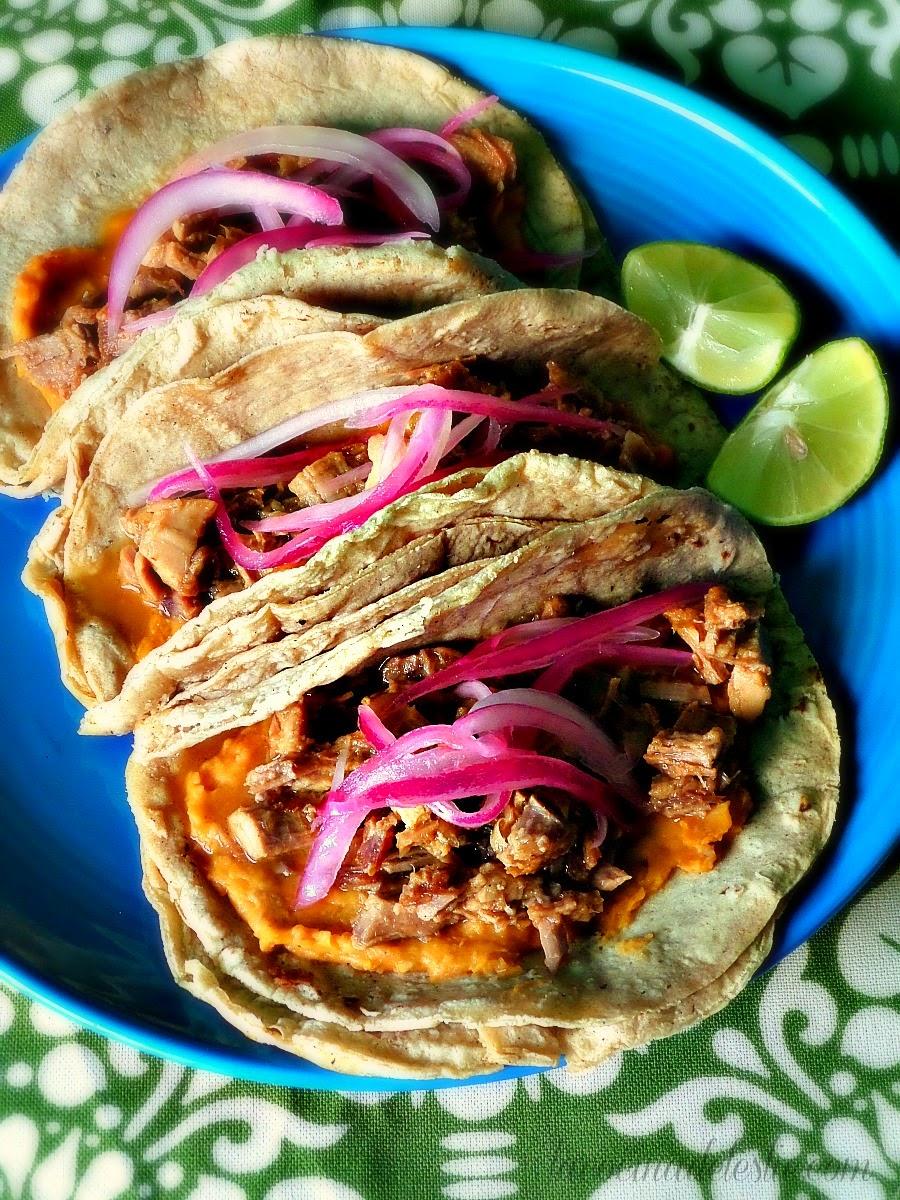 Shredded Pork Carnitas Tacos - lacocinadeleslie.com