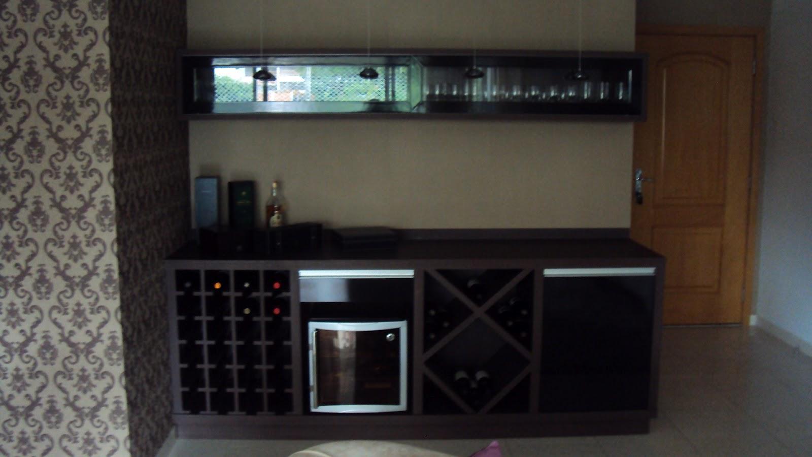 Barzinho moderno espa o ampllo for Muebles para bar modernos