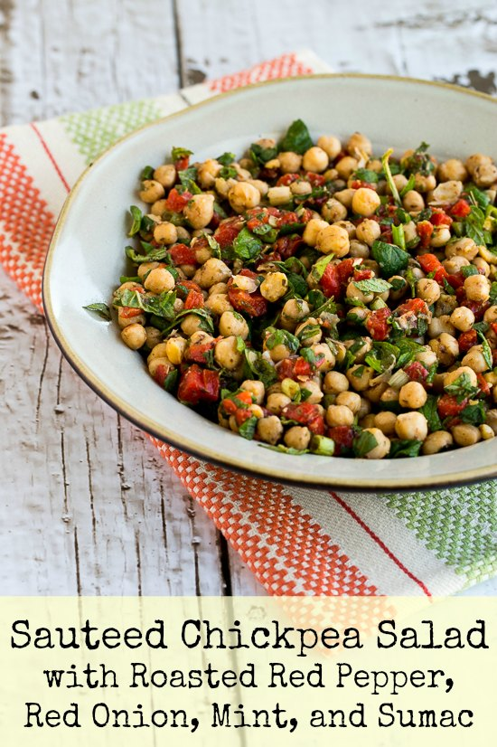 Sauteed Chickpea Salad with Roasted Red Peppers, Mint, and Sumac (and ...