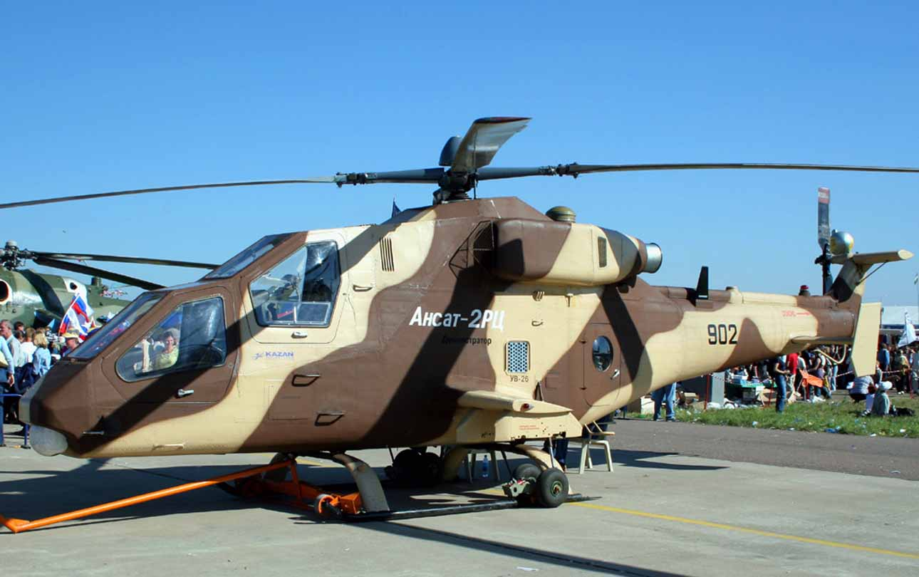 russian kazan ansat2rc light attack helicopter global