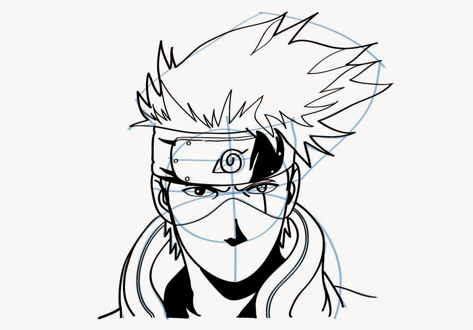 Draw Naruto on sasuke art