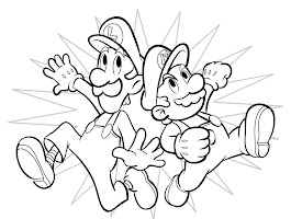 Super Paper Mario Luigi Coloring Pages