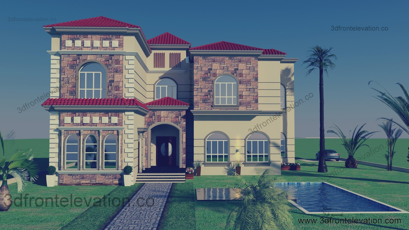 Beautiful mediterranean villa for life time design oman for Mediterranean villa design