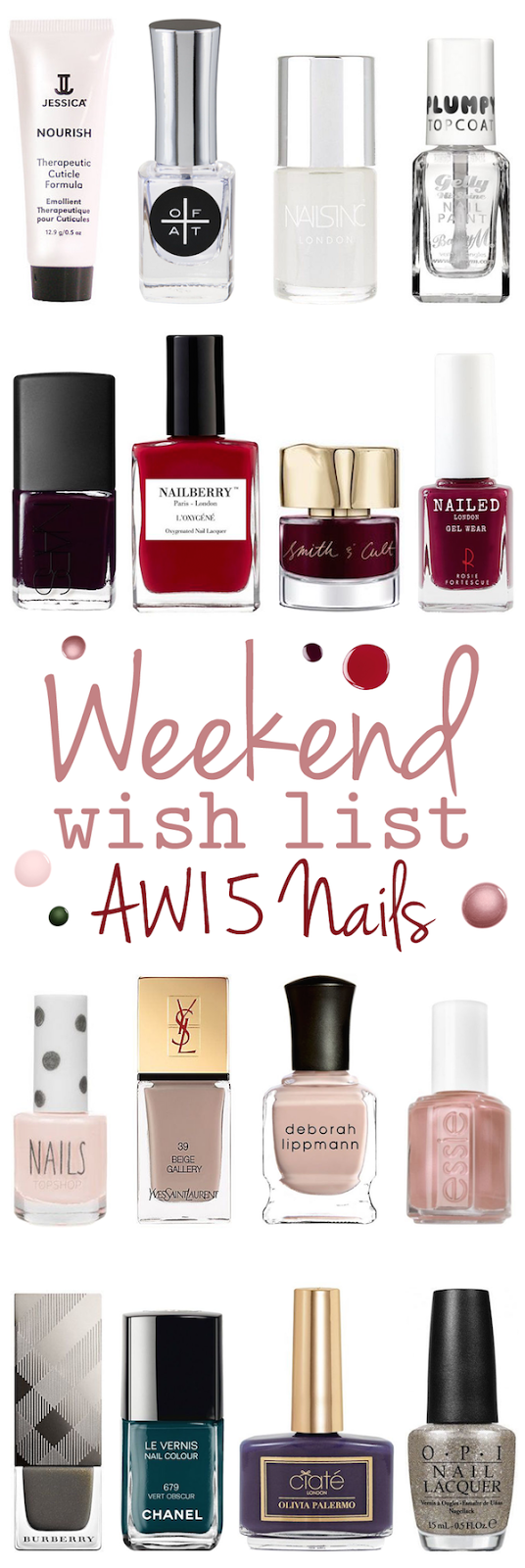 Weekend Wish List – AW15 Nails