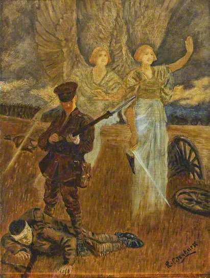 The Angel of Mons - R Crowhurst (c1920) - image credit National Army Museum