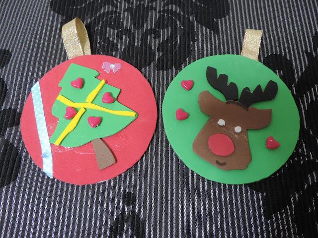 Adornos de navidad con cds reciclados