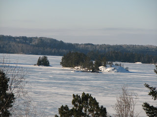 Sunny winter solstice on Burntside lake, http://huismanconcepts.com/