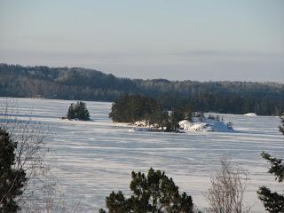 Sunny winter solstice on Burntside lake, http://huismanconcepts.com/