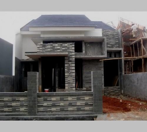 Desain Teras Rumah Dengan Batu Alam Dan Limasan Jawa Terbaru
