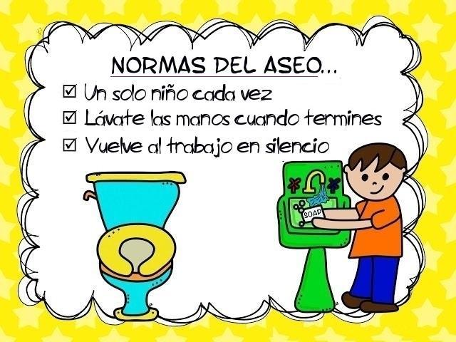 Baño Para Jardin Infantil: PARA EDUCACIÓN INFANTIL: NORMAS de Comportamiento en el ASEO