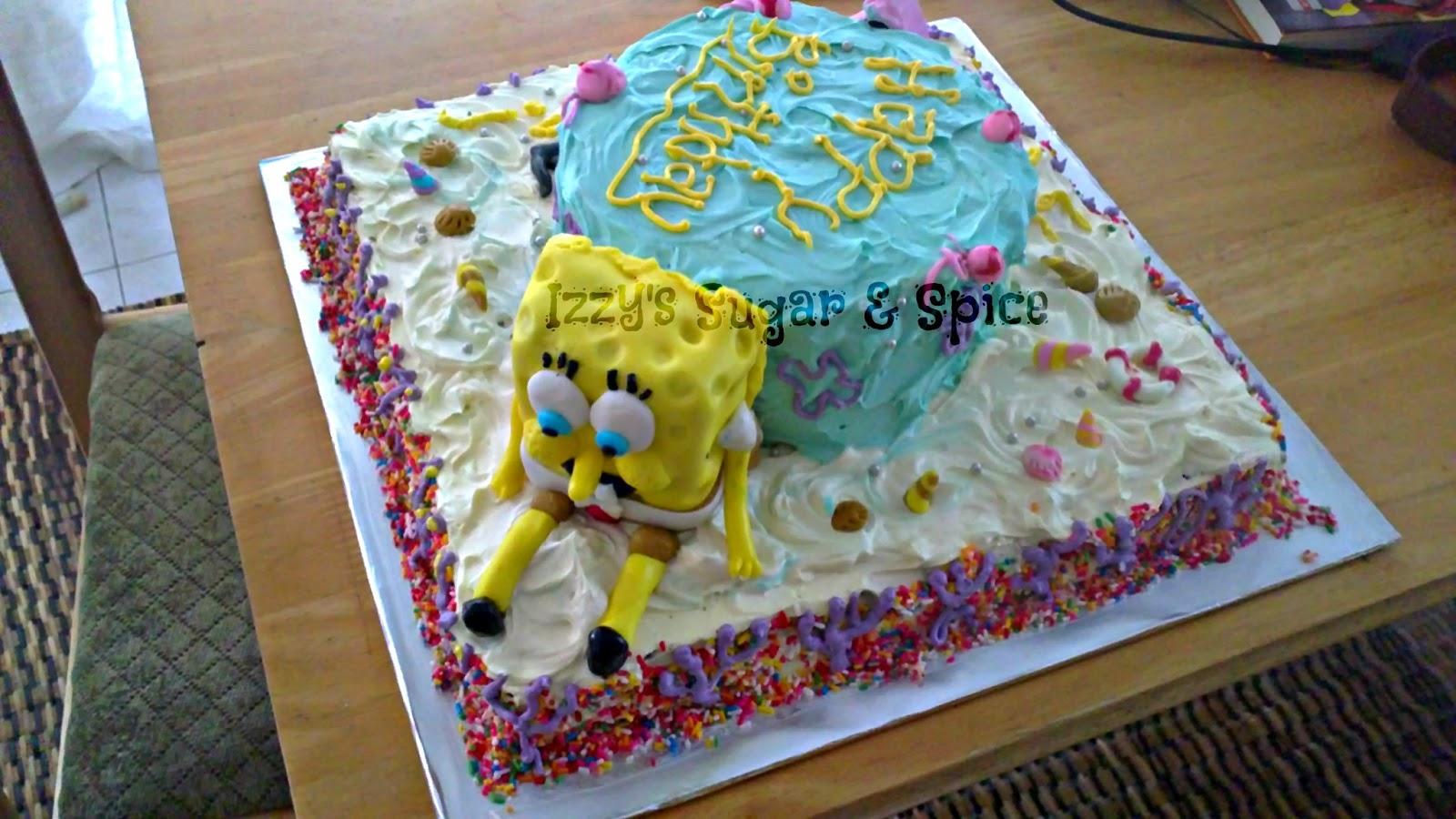 Izzys Sugar Spice Sponge Bob Cake