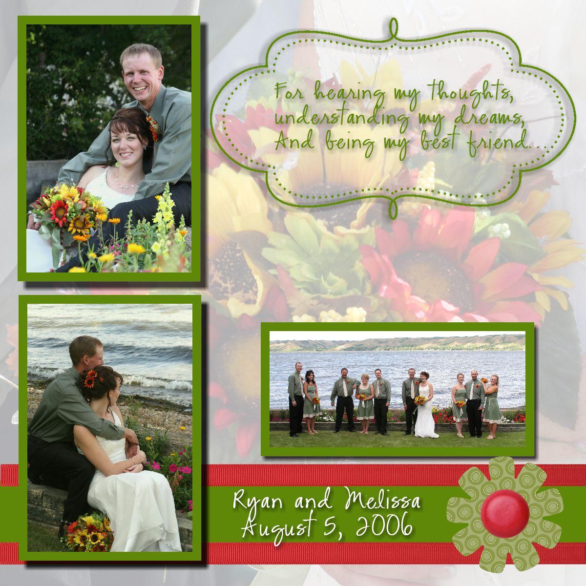 Wedding scrapbook ideas layouts - Porch Swing Creations My Digital Studio Wedding Scrapbook 1200x1200