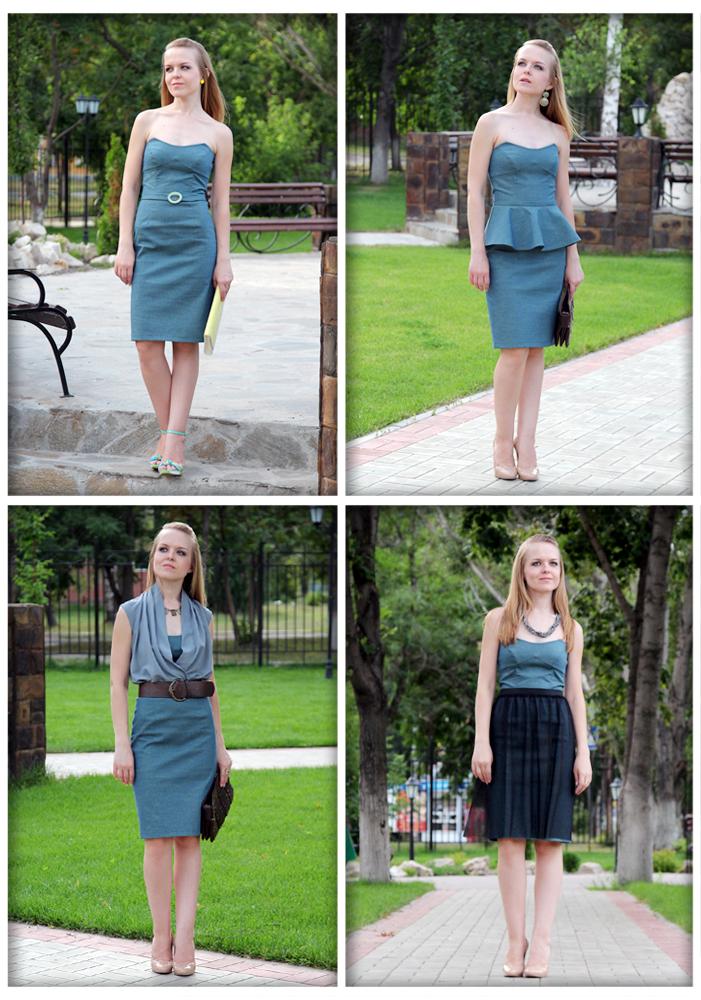 Как быстро сшить платье из атласа своими руками 13