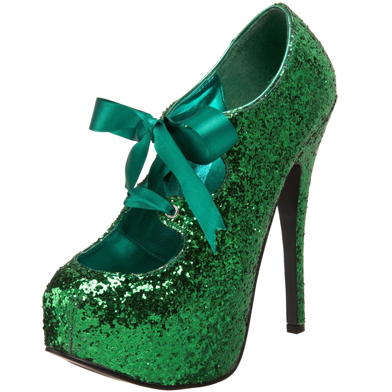 Fashion Trends Bordello Glitter Platform Pump Heels Shoe