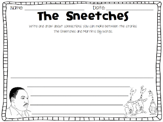 Click here to get the Sneetches and MLK responding sheet for free!