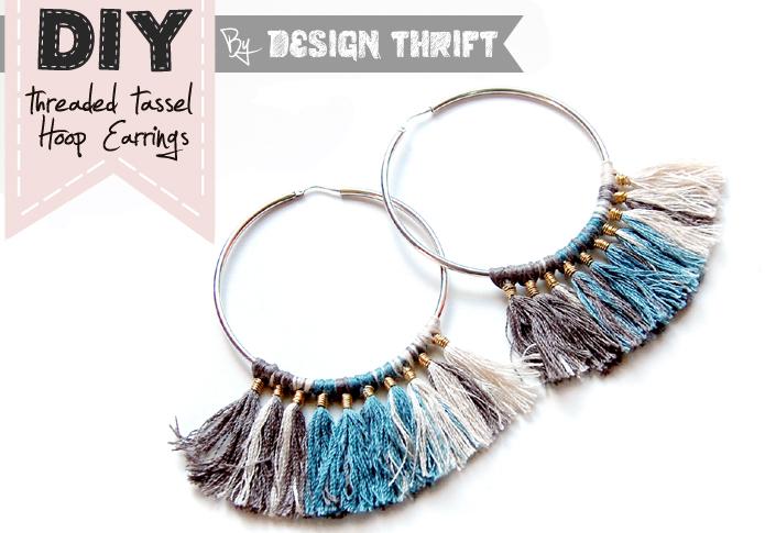 Blog de conception de Thrift: DIY hiérarchique gland Créoles tutoriel