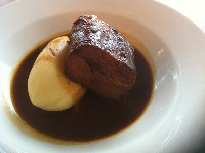 Braised blade of beef at Woods Brasserie