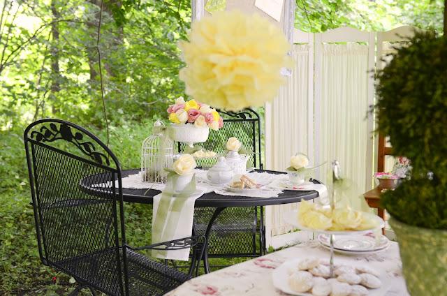 shabby chic tea party by www.bonhomieevents.com