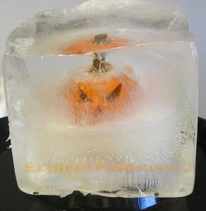Ice Block Jack O Lantern