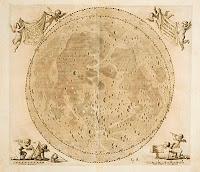 Mapa lunar antiguo. Helvelius 1647