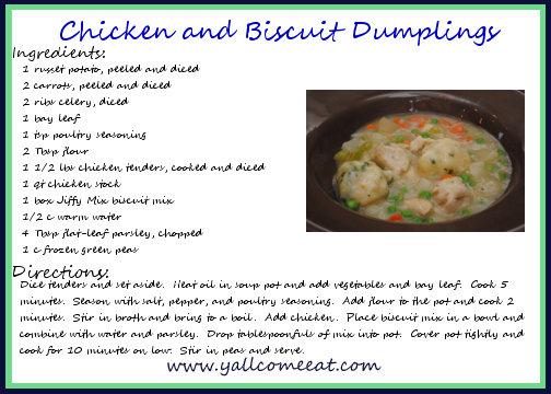 biscuits dumplings