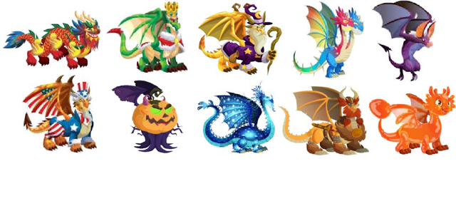 imagenes de dragones especiales de dragon city