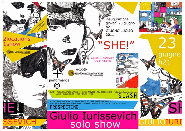 "Invitation to Giulio Iurissevich's, ""She!"" a solo exhibition"