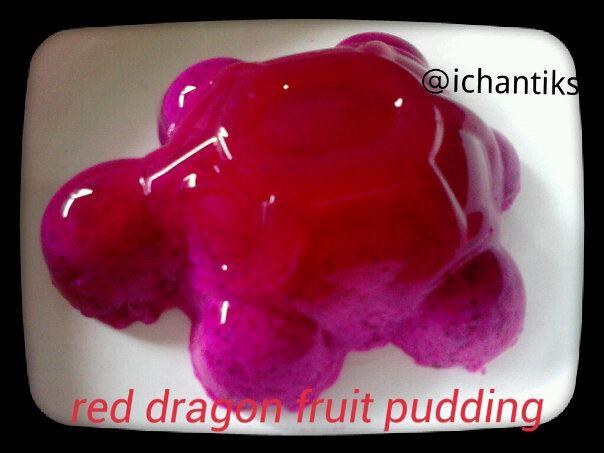 Resep MPASI: Red Dragon Fruit Pudding