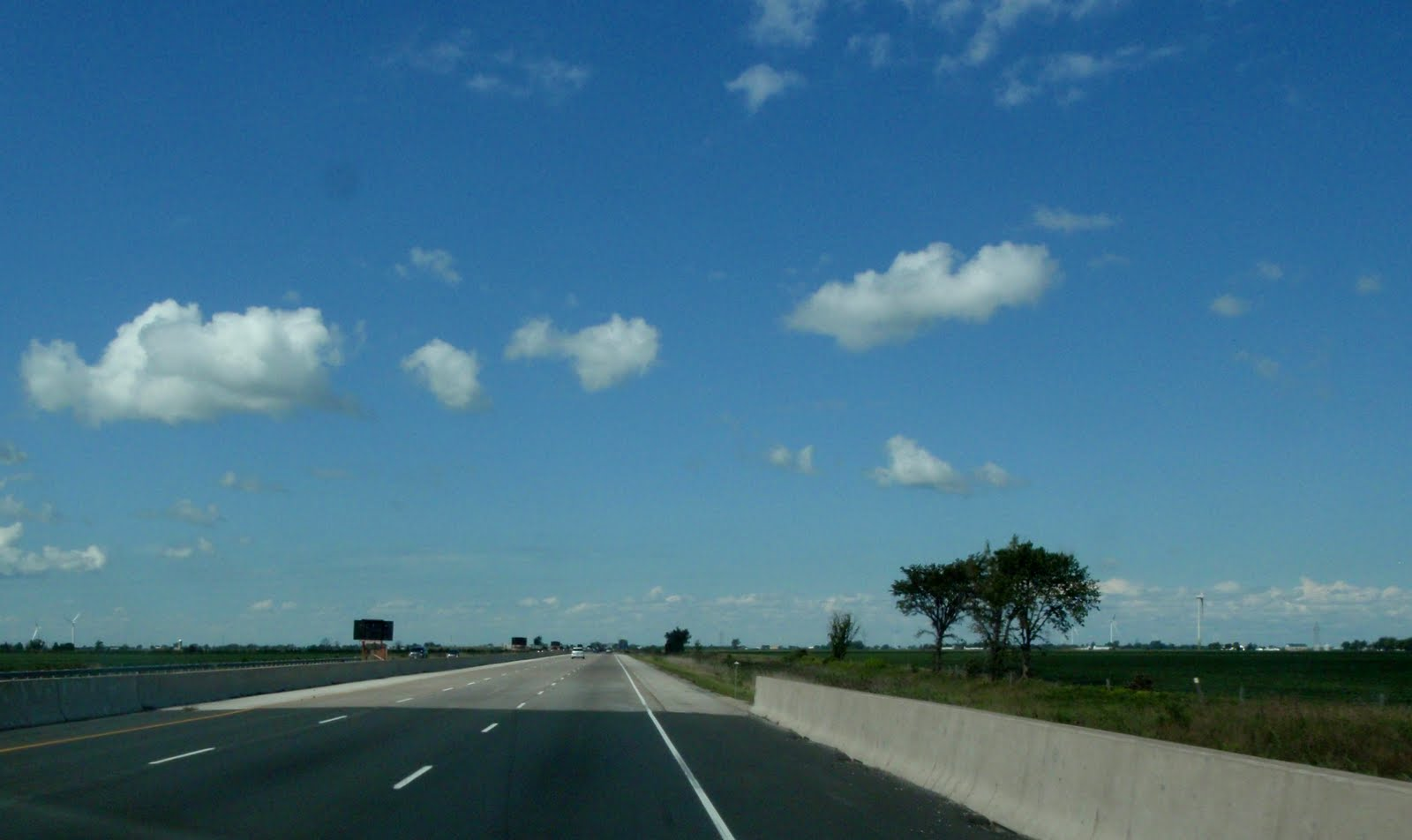 Flat landscape in Southern Ontario