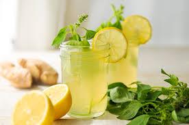 Receita de chá verde com limão, gengibre e hortelã