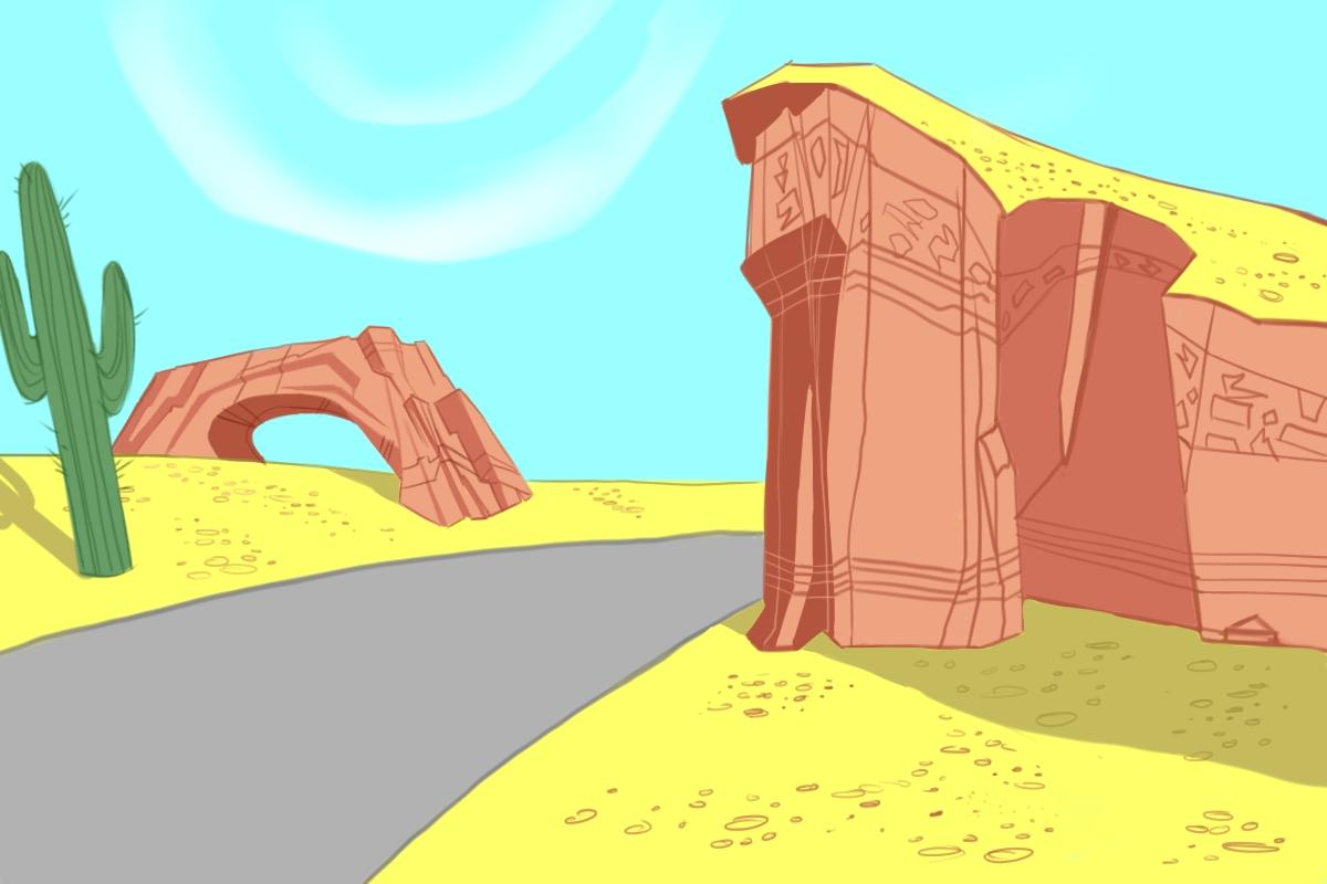 Looney tunes desert background - photo#6