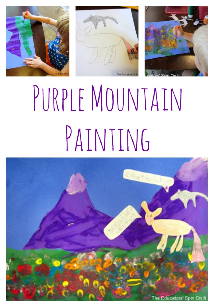 Purple Mountain Art Project for Kids : STEAM