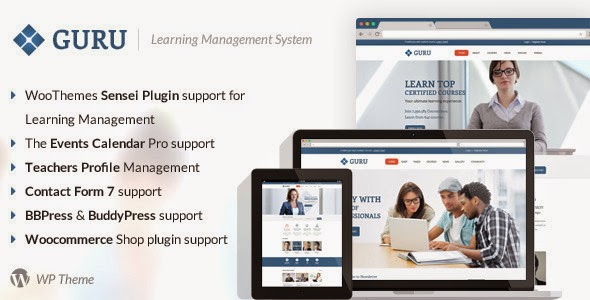 Guru v1.1 - Learning Management WordPress Theme