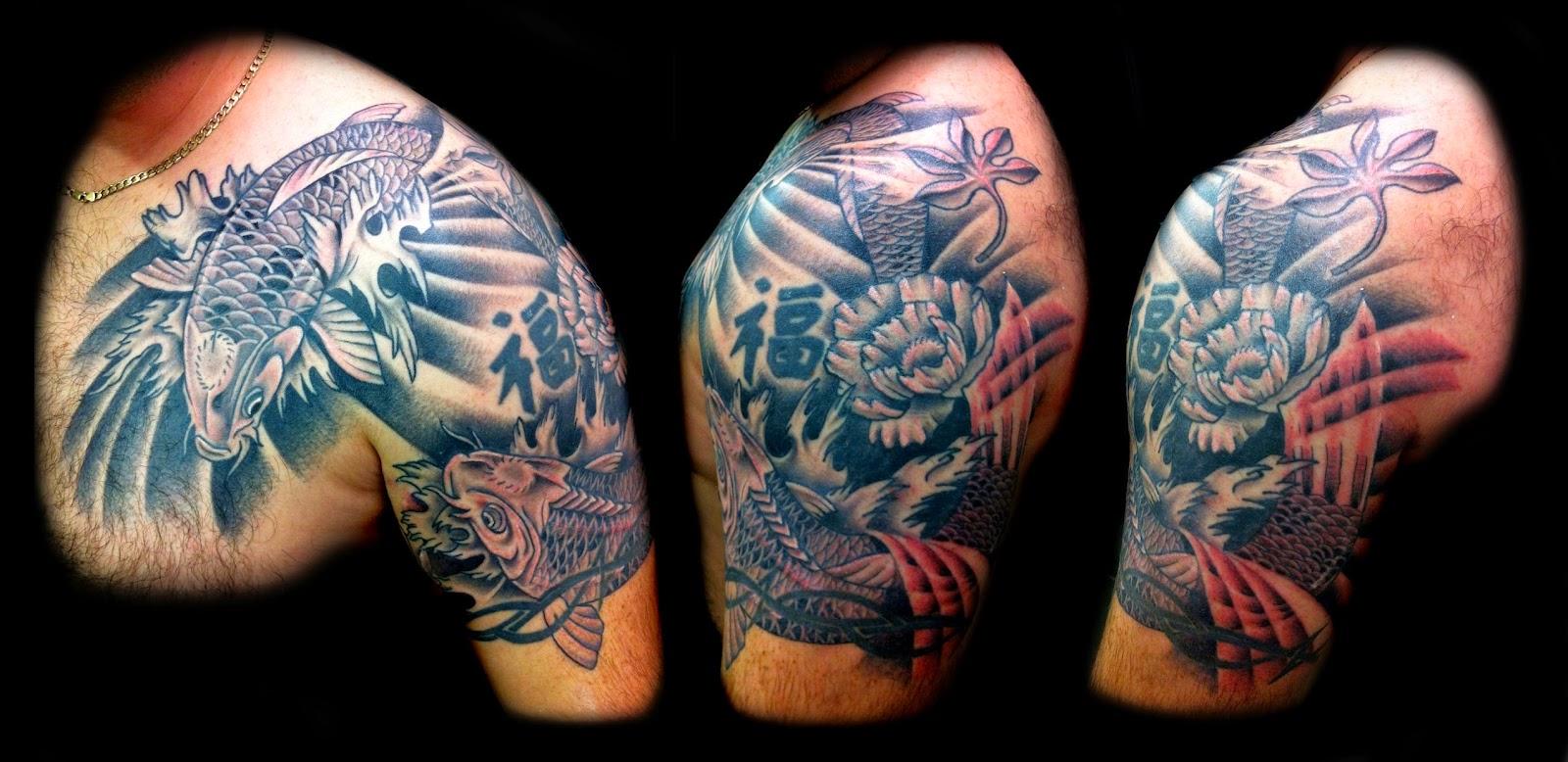 Japanese koi tattoo design gallery japanese tattoo creator for Japan tattoo koi