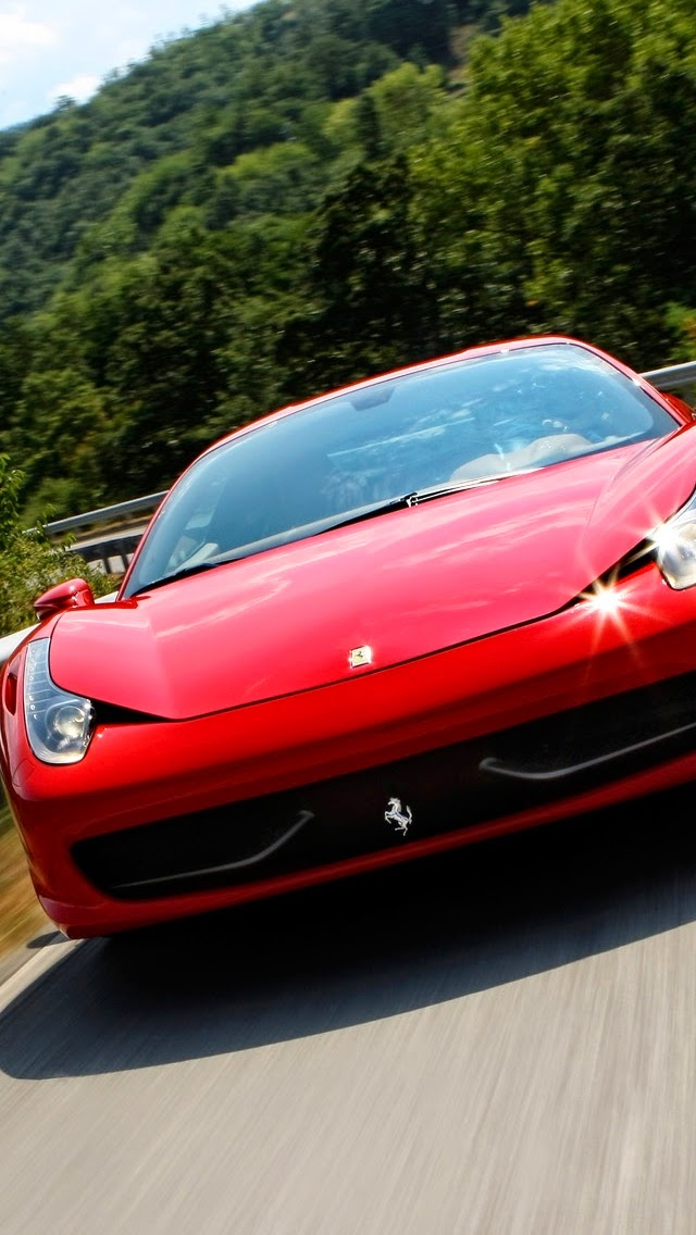 Ferrari 458 Italia iphone 5 wallpapeR