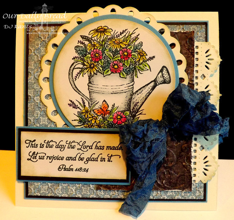 Our Daily Bread Designs, Happy Birthday, Beautiful Borders Dies, Blooming Garden Paper Collection