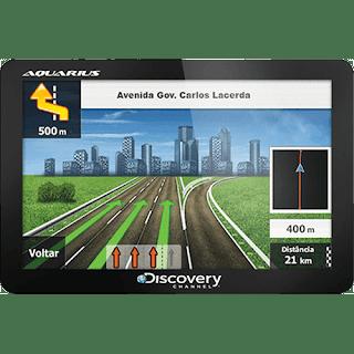 GPS Automotivo Aquarius Discovery Channel