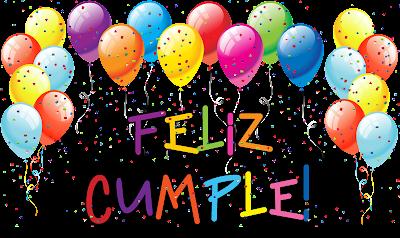globos y confeti de cumpleaños