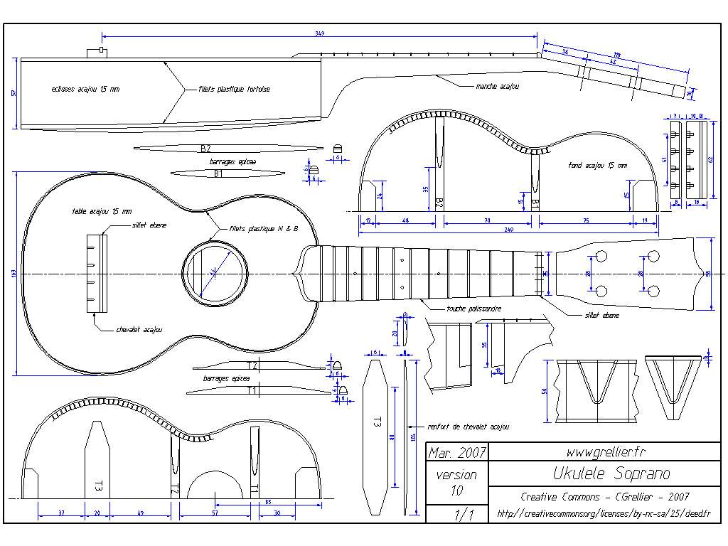 Ukulelescores diy ukulele handmade for Building planning and drawing free pdf download