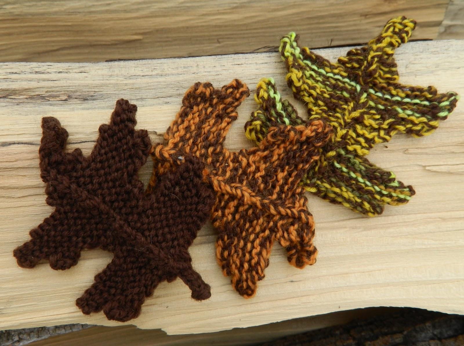 Falling Leaves Knitting Pattern : The Handmade Homemaker: Craft Fall leaves Knitting Pattern