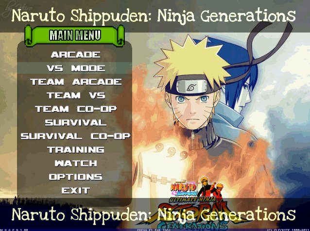 naruto shippuden mugen edition 2012 download