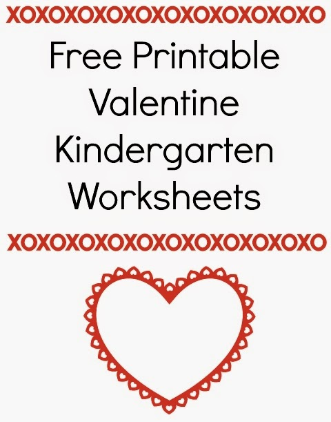 graphic regarding Free Printable Valentine Worksheets known as Absolutely free Printable Valentine Kindergarten Worksheets ~ World
